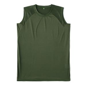 J.S.D.F.(自衛隊)吸汗速乾両面メッシュスリーブレスシャツ2枚SET オリーブ L - 拡大画像