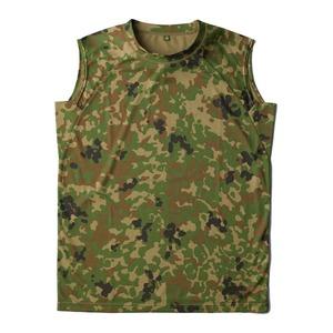 J.S.D.F.(自衛隊)吸汗速乾両面メッシュスリーブレスシャツ2枚SET 迷彩 M - 拡大画像