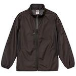 シャカシャカと音がしない撥水&防風加工・リフレクター・裏地付スタンドジップジャケット ブラック XL