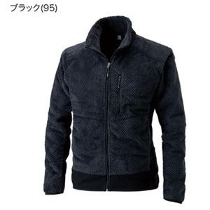 表裏両面起毛吸汗速乾マイクロファーフリースジャケット ブラック M - 拡大画像