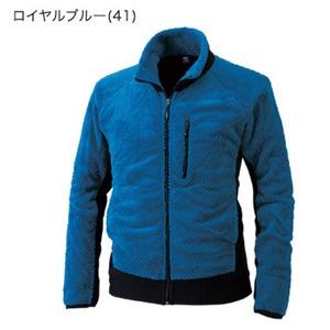 表裏両面起毛吸汗速乾マイクロファーフリースジャケット ロイヤルブルー L