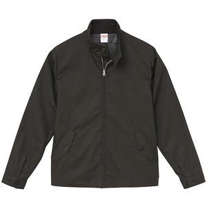 テカリを抑えた綿混・撥水加工、防風加工、裏地付スウィンブトップジャケット ブラック XL - 拡大画像