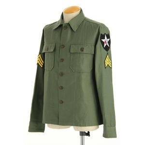 ジョンレノンModel 米軍 OG-107 ファティーグシャツ 長袖 JS086YNJR 16 1/2サイズ(XL)【レプリカ】 - 拡大画像