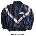 US ARMY IPFU 防風撥水加工大型リフレクタージャケットレプリカ ネイビー M