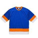 UVカット・吸汗速乾・4.1オンスホッケーTシャツ XL  コバルトブルー/オレンジ/ホワイト