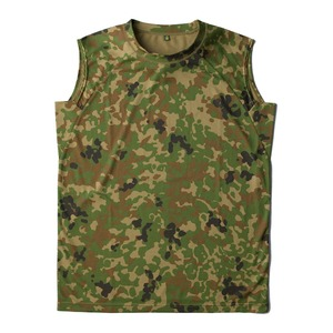 J.S.D.F.(自衛隊)吸汗速乾両面メッシュスリーブレスシャツ2枚SET 迷彩 L