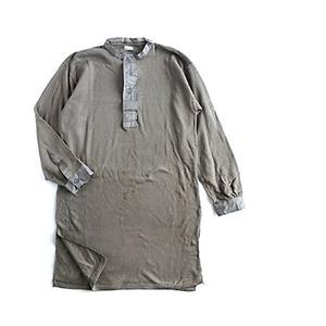 スウェーデン軍放出M39ワッフルヘンリースリーピングシャツ 未使用デットストック M - 拡大画像