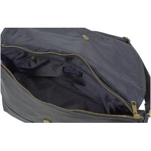 防水撥水加工合成皮革ショルダーバック ブラック