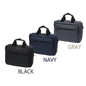 A4サイズ手提げ、ショルダー、リュック3WAYビジネスバック ブラック - 拡大画像