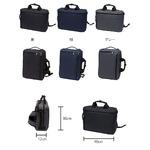 B4サイズ対応パソコン収納ポケット付手提げ、ショルダー、リュック3WAYビジネスバック 紺