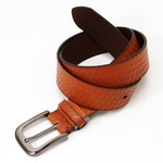 牛革一枚革ウェスト95cm対応・40mmクラフト ビジカジベルト ブラウン