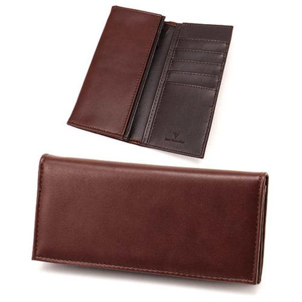 スムース長財布 表チョコ×内チョコエンボス