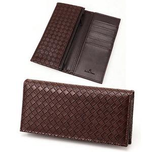 メッシュ長財布 表チョコ×内チョコエンボス - 拡大画像