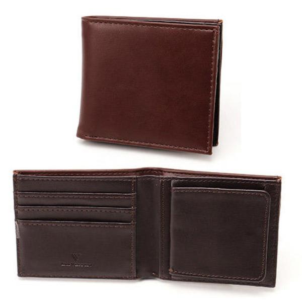 スムース折り財布 表チョコ×内チョコ