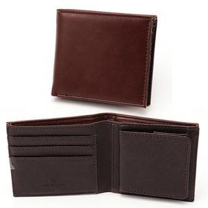 スムース折り財布 表チョコ×内チョコエンボス - 拡大画像