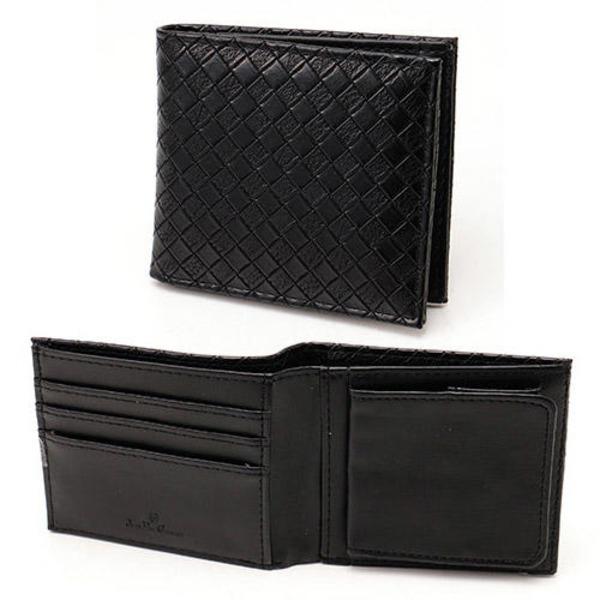 メッシュ折り財布 表黒×内黒