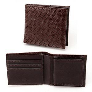 メッシュ折り財布 表チョコ×内チョコエンボス - 拡大画像