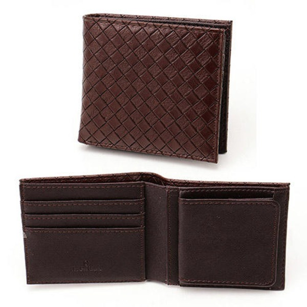 メッシュ折り財布 表チョコ×内チョコ