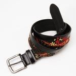 竹刺繍デザイン和柄ピンベルトウェスト95cm対応 クロ