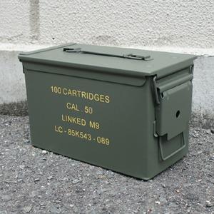 アメリカ軍アンモボックススティール レプリカ オリーブ - 拡大画像