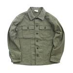 アメリカ軍ファーティングシャツ レプリカ オリーブ 13h(レディースフリーサイズ)