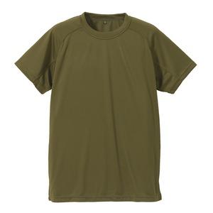 J. S.D.F.(自衛隊)採用吸汗速乾半袖 Tシャツ 【同色2枚SET】 XXL オリーブグリーン - 拡大画像
