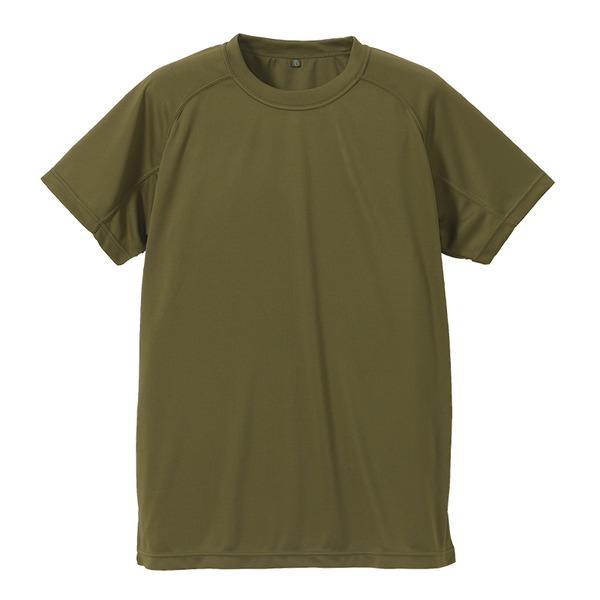 J. S.D.F.(自衛隊)採用吸汗速乾半袖 Tシャツ 【同色2枚SET】 XS オリーブグリーン