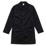 丈夫で光沢のあるT/Cツイル ノンアイロンエンジニアロング丈コート ブラック L CB7451-BLK-L