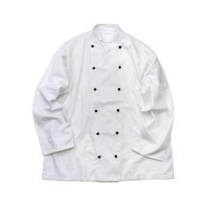 イギリス軍放出コックジャケットホワイト未使用デットストック M - 拡大画像