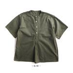ブルガリア軍スリーピングシャツ貝ボタン半袖レプリカ オリーブ 2(L)