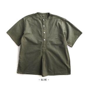 ブルガリア軍スリーピングシャツ貝ボタン半袖レプリカ オリーブ 3(XL) - 拡大画像