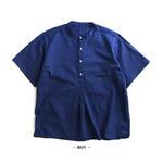 ブルガリア軍スリーピングシャツ貝ボタン半袖レプリカ ネイビー 2(L)