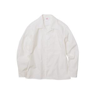 T/C ノンアイロンオープンカラー長袖シャツ オフホワイト L - 拡大画像