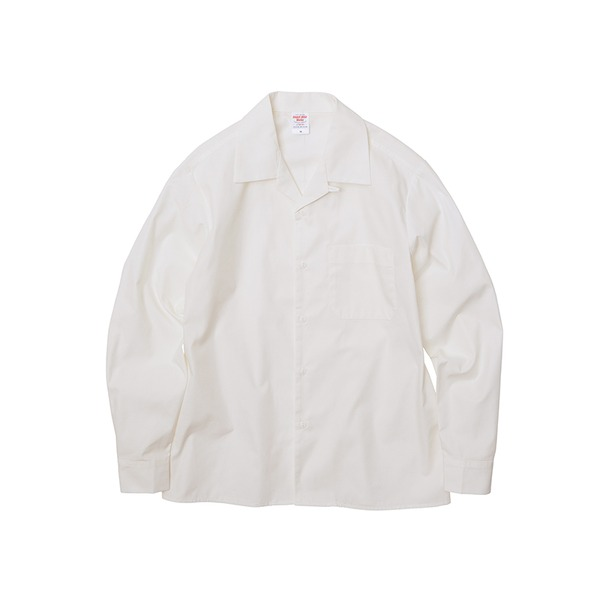 T/C ノンアイロンオープンカラー長袖シャツ オフホワイト 5XL