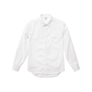 T/Cワーク ノンアイロン長袖シャツ オフホワイト 5XL - 拡大画像