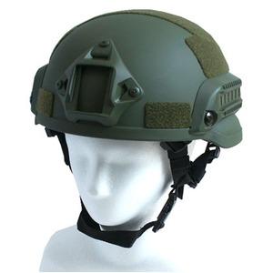 アメリカ軍特殊部隊MICH2002FASTヘルメットレプリカ オリーブ - 拡大画像