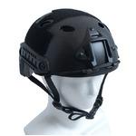 アメリカ空挺部隊FASTヘルメット「スタンダード」レプリカ ブラック