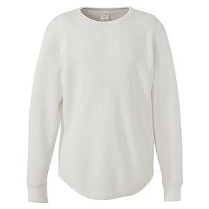 10.3オンス スーパーヘビーウェイトワッフルラウンドテールシャツ バニラホワイト S - 拡大画像