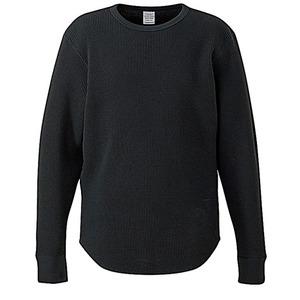 10.3オンス スーパーヘビーウェイトワッフルラウンドテールシャツ ブラック L - 拡大画像