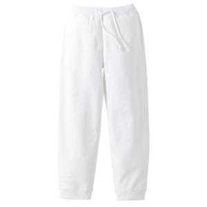 10オンス裏地パイルスウェット パンツ ホワイト XL - 拡大画像