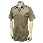 イタリア軍放出 チノ半袖シャツ カーキ 未使用 デットストック 14L(M〜L相当)