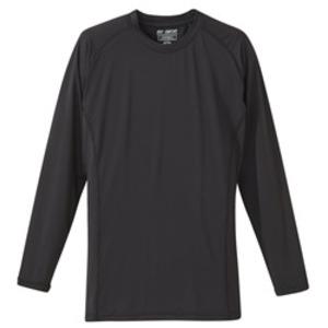 J..S.D.F(自衛隊)吸汗速乾UVカットコンプレッション長袖Tシャツ ブラック L - 拡大画像