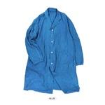 フランス軍タイプ麻綿混ワークコート ミッドナイトブルー 1(レディースフリーサイズ)