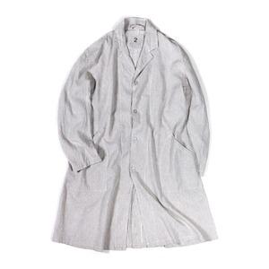 フランス軍タイプ麻綿混ワークコート グレー 1(レディースフリーサイズ) - 拡大画像