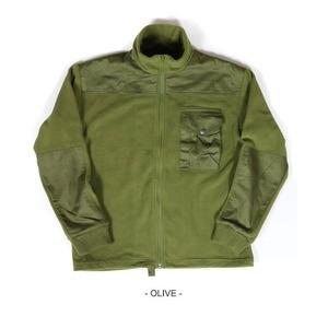 カナダ軍IECS(改良型環境服装システム)フリースジャケットレプリカ オリーブ XL - 拡大画像