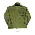 カナダ軍IECS(改良型環境服装システム)フリースジャケットレプリカ オリーブ XL
