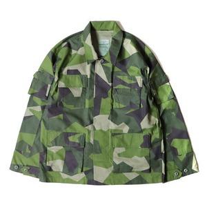 スウェーデン軍BDU(Battle Dress Uniform) M90グリーンカモ ジャケット 復刻 L - 拡大画像