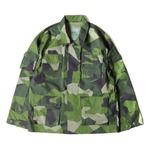 スウェーデン軍BDU(Battle Dress Uniform) M90グリーンカモ ジャケット 復刻 L