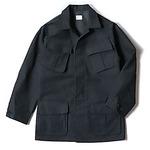 アメリカ軍 モールスキンファーティングジャケット レプリカ ブラック XL