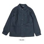 フランス軍 モールスキンジャケット レプリカ ブラック 3(XLサイズ)